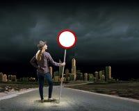 停止污染! 免版税图库摄影