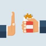 停止没有抽烟 拒绝 库存例证