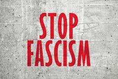 停止法西斯主义消息 库存图片