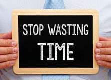 停止浪费时间 免版税库存照片