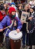 停止獾拣掉抗议游行 免版税图库摄影