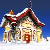 停止的光圣诞老人 图库摄影