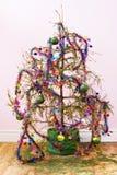 停止的圣诞树 免版税库存照片