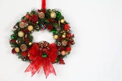 停止的圣诞节花圈 库存图片