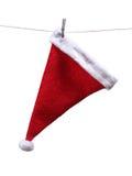 停止的帽子圣诞老人 免版税库存照片