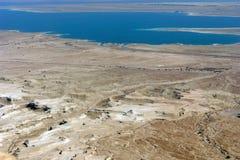 停止的沙漠以色列横向海运 免版税库存图片