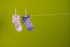 停止的袜子 库存图片