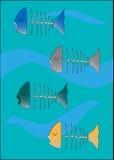 停止的鱼游泳 向量例证