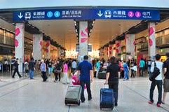 停止的hom火车站,香港 免版税库存照片