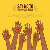 停止种族主义图象 皇族释放例证