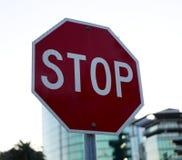 停止签到红色和白色颜色 库存照片