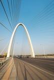 停止缆绳在xian停留了桥梁 库存照片
