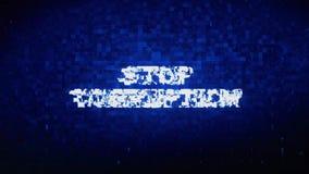 停止腐败文本数字噪声抽搐小故障畸变作用错误动画 库存例证