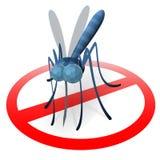 停止蚊子标志 免版税库存图片