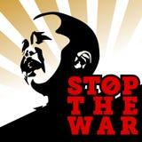 停止被说明的战争传染媒介 免版税库存照片