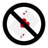 停止赌博游戏 免版税库存图片