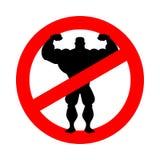 停止运动员 禁令体型 被禁止的健身 红色圈子r 库存照片