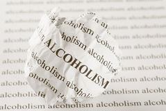 停止酒精中毒 免版税库存照片