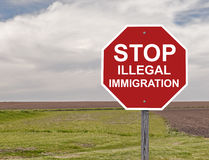 停止非法移民 免版税图库摄影