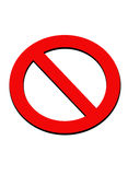 停止继续 免版税库存照片