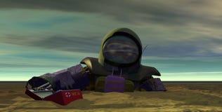 停止1位的宇航员 免版税库存图片
