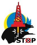停止fracking 库存图片