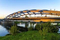 停止Kotlarski桥梁在克拉科夫,波兰 库存照片