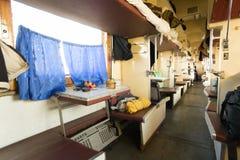 停泊处内部无盖货车 库存图片
