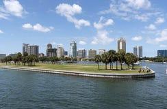 停泊领域在圣彼德堡佛罗里达美国 免版税库存照片