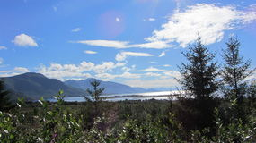 从停车位Sigerfjord挪威 免版税库存图片