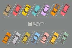 停车区顶视图  库存例证