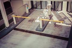 停车场入口障碍 免版税库存照片