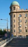 停车场和大厦与圆顶 免版税库存照片
