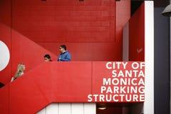 停车场圣塔蒙尼卡 图库摄影