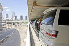 停车场在城市 免版税库存照片