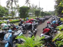 停车场在雅加达 免版税库存图片