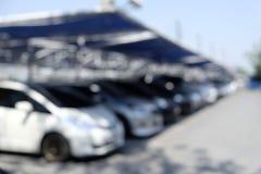 停车场室外迷离 免版税图库摄影