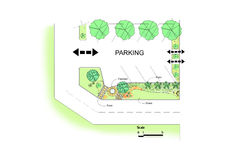停车场庭院设计 免版税库存图片
