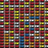 停车场顶视图05 A 免版税图库摄影