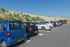停车场Maasvlakte 免版税图库摄影