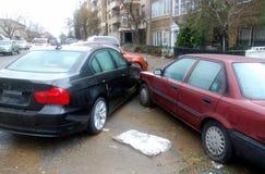 停车处事故 免版税库存照片