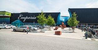 停车处大购物中心的全景视图在马尔摩 图库摄影