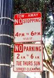 停车处标志 图库摄影