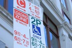 停车处标志 免版税库存照片