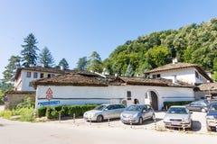 停车处特罗扬修道院在保加利亚 库存图片