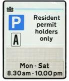 停车居民符号 免版税图库摄影