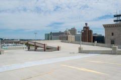 停车库在街市哈里斯堡,宾夕法尼亚 库存照片
