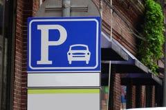 停车摄影准备好的符号使用 免版税库存照片