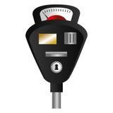 停车时间计时器被隔绝的象 免版税库存照片