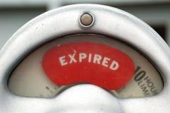 停车时间计时器 免版税图库摄影